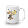 Corgi Candy Heart Mug - Tri-Color