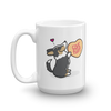 Corgi Candy Heart Mug - Black Headed Tri-Color with Tail
