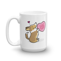 Intl - Corgi Candy Heart Mug - Sable with Tail