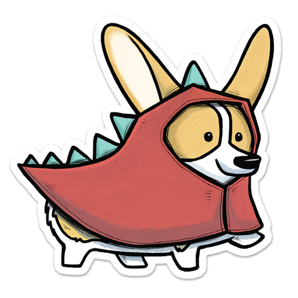 Corgisaur Sticker