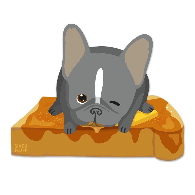 Frenchie Toast Sticker