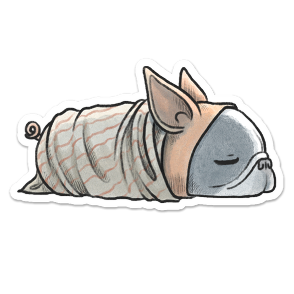 Pig in a Blanket Sticker