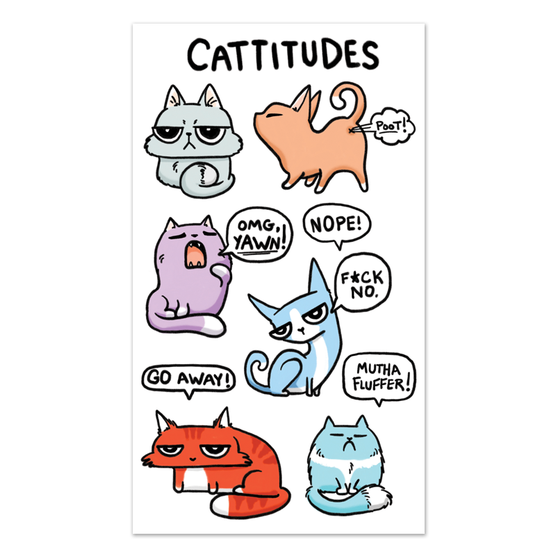 Cattitude Sticker Sheet