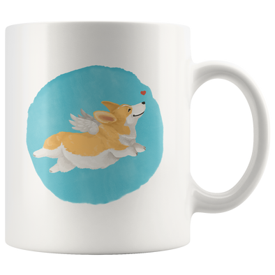 Corgi Angel Mug
