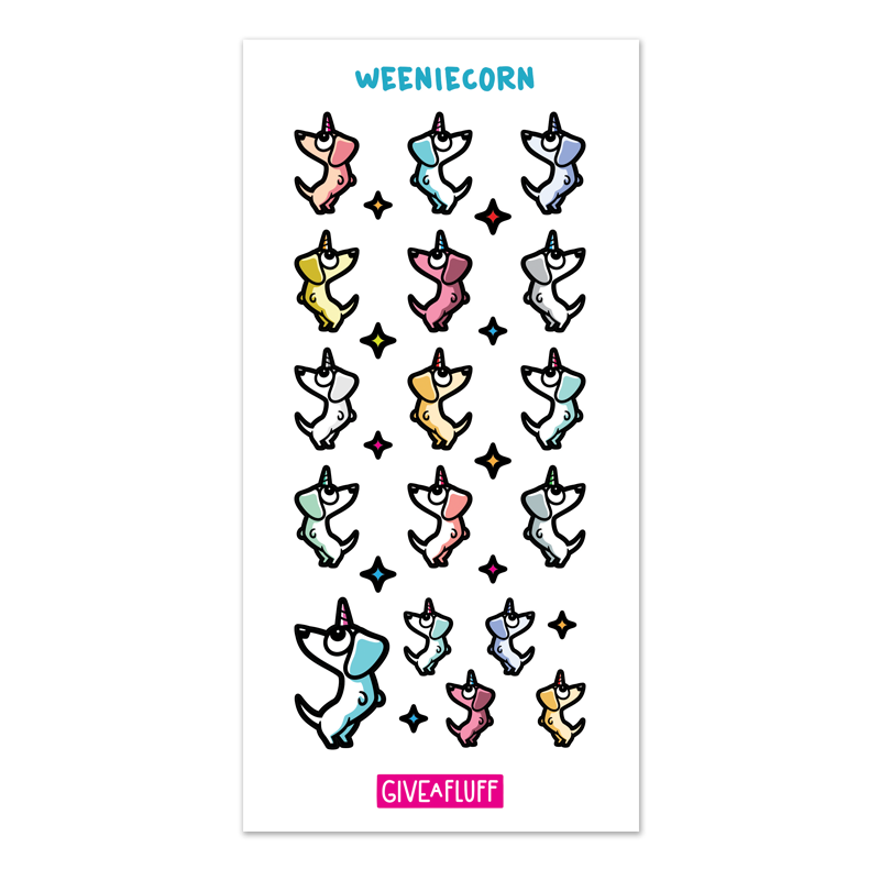 Weeniecorn Sticker Sheet