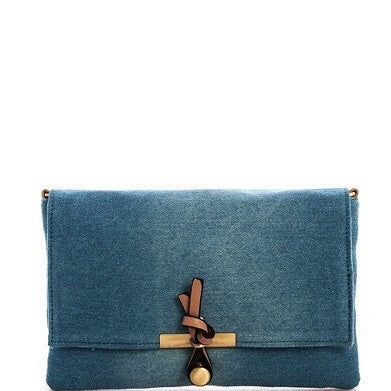 Chic Denim Clutch