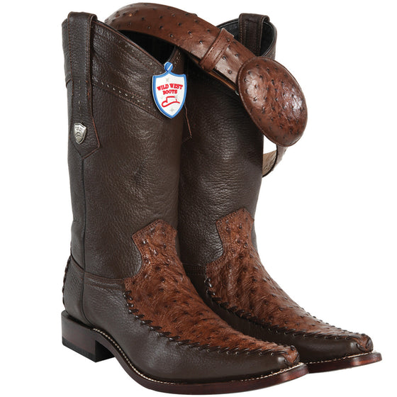 Ostrich Square Toe Boot WWB-278T03