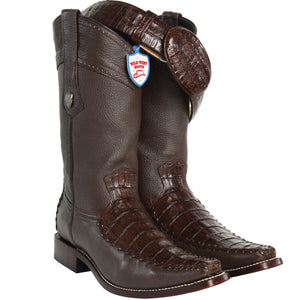 Caiman Belly Square Toe Boot WWB-278T82