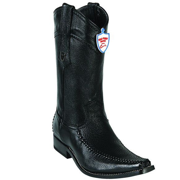 Shark and Deer Skin Square Toe Boot WWB-278T9305