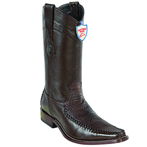Shark and Deer Skin Square Toe Boot WWB-278T9307