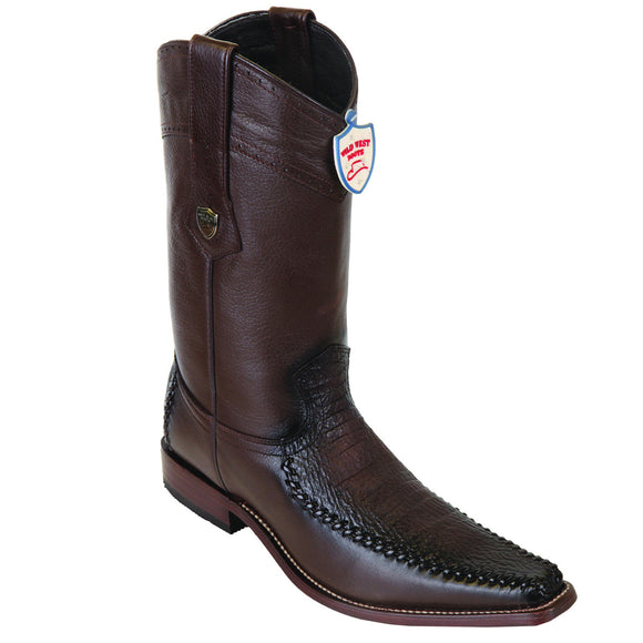 Shark and Deer Skin Square Toe Boot WWB-278TF9316