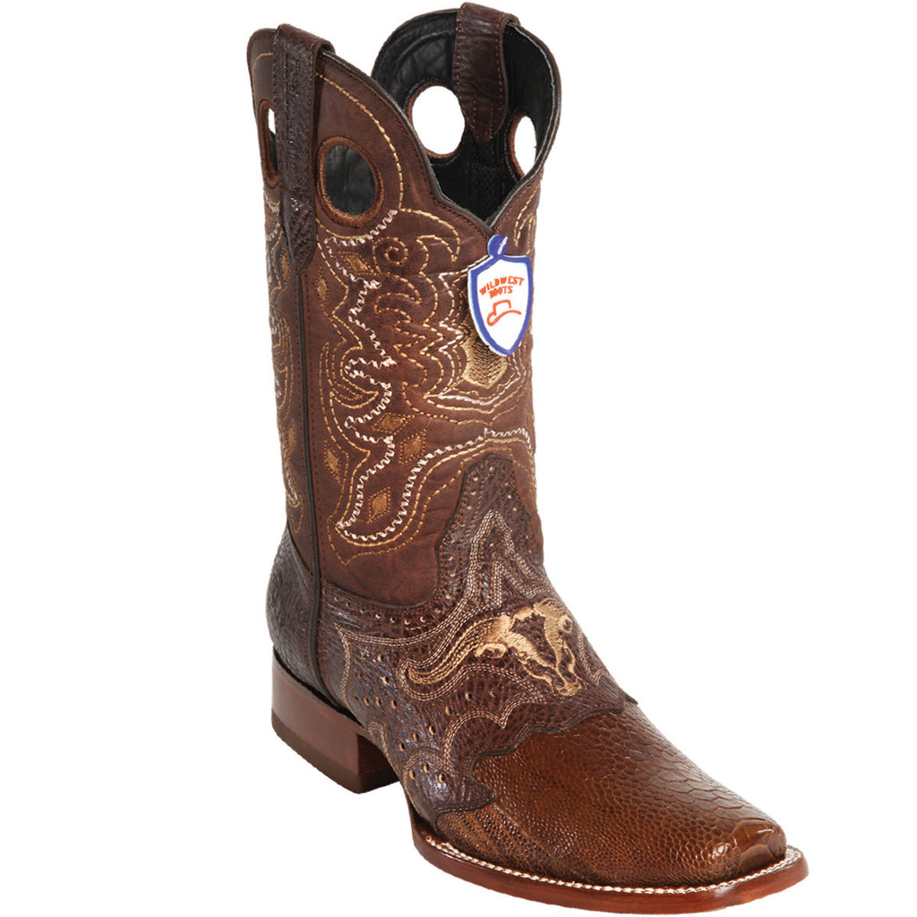 Ostrich Leg Wild Rodeo Toe Boot WWB-2820507