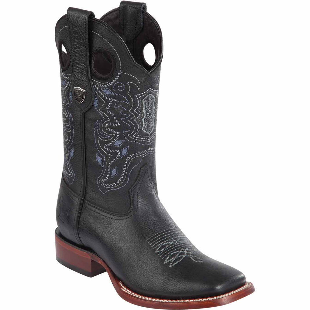 Wide Toe Leather Boot WW-282427