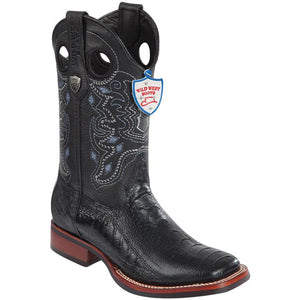 Ostrich Leg Ranch Toe Boot WWB-282505
