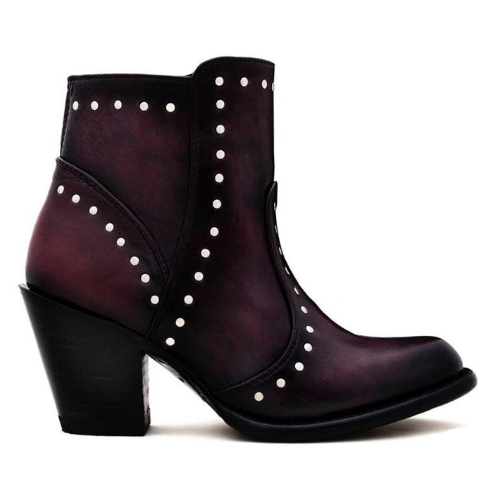Sidney Burgundy - Short Boot