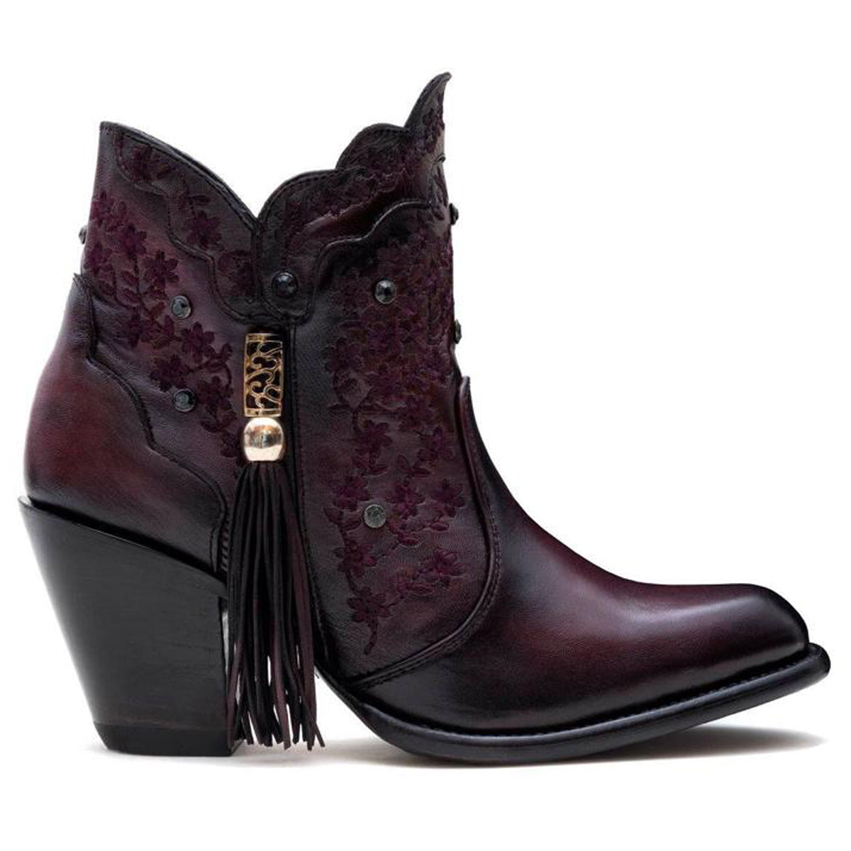 Ximena Burgundy - Short Boot