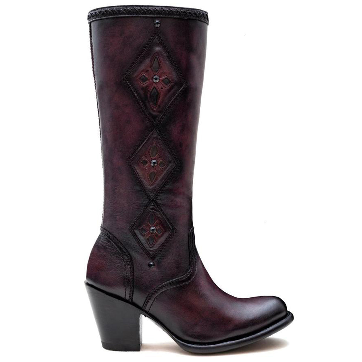 Albania Burgundy - High Boot