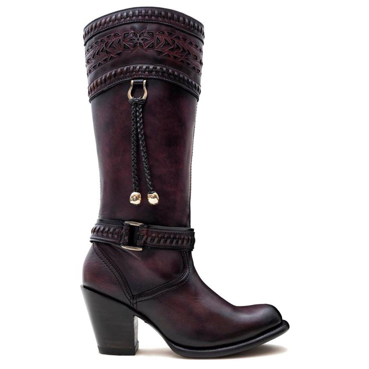 Tiffany Burgundy - High Boot