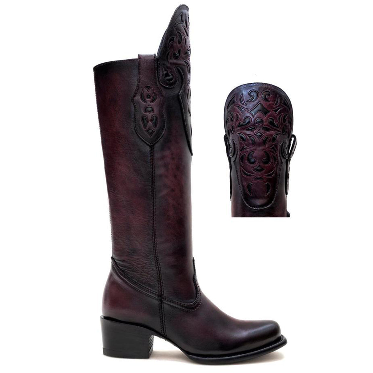 California Burgundy - High Boot