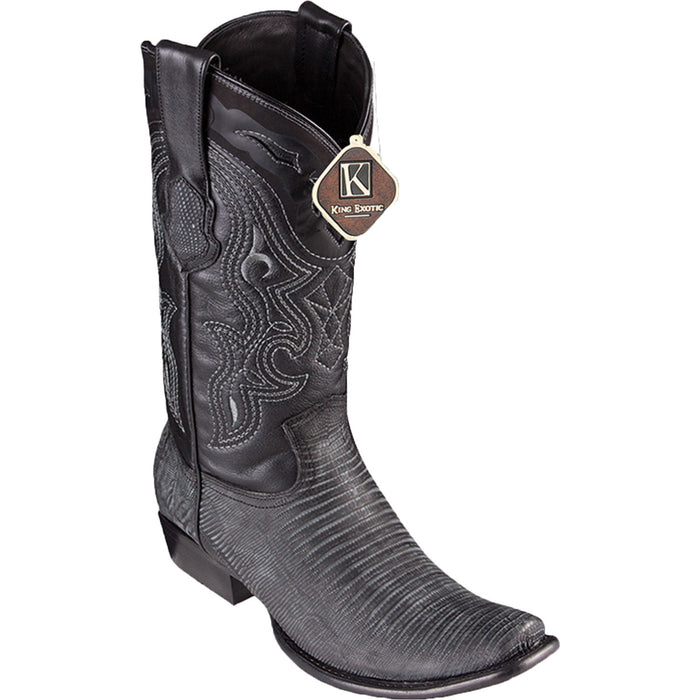 Men's King Exotic Lizard Skin Dubai Toe Boot