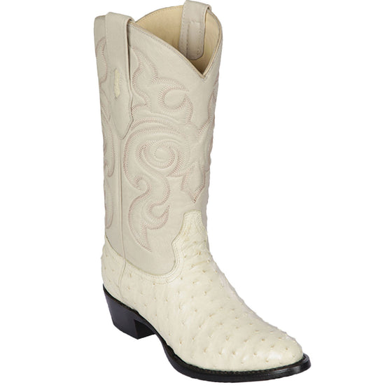 Winterwhite Ostrich Round Toe Boot LAB-6503
