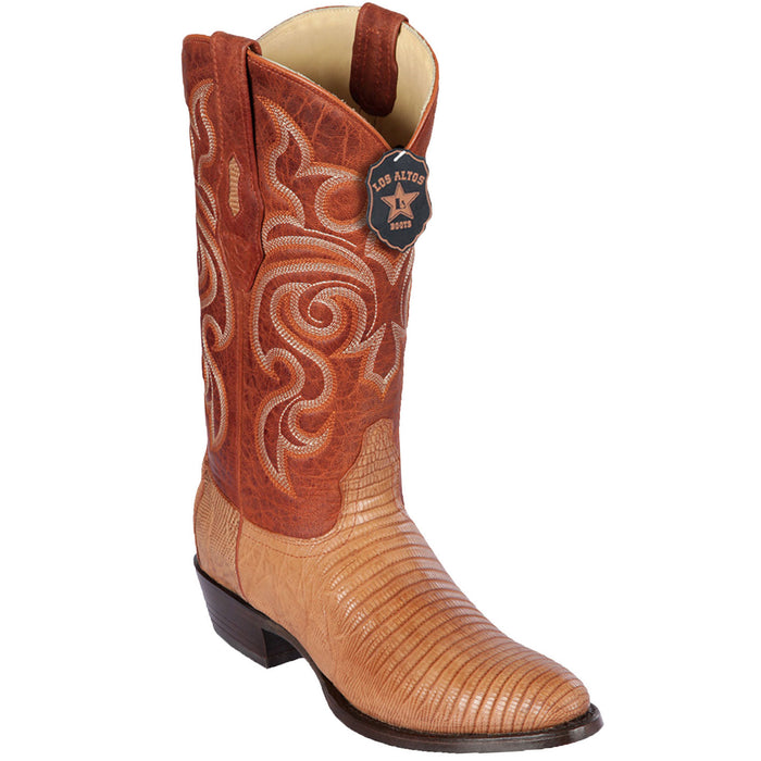 Men's Los Altos Lizard Skin Round Toe Boot -Cognac G