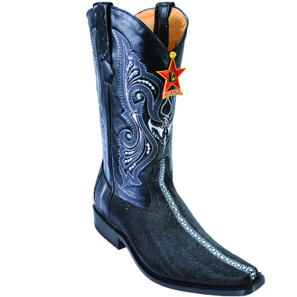 Full Pearl Stingray Square Toe Boot LAB-731105