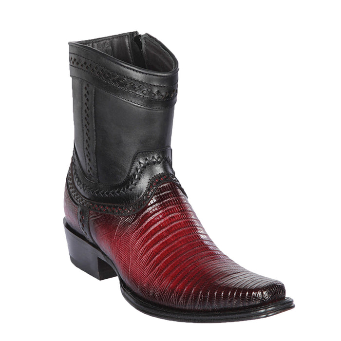 Men's Los Altos Lizard Skin Square Toe Short Boot