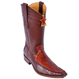 Ostrich Leg Square Toe Boot LAB-770503