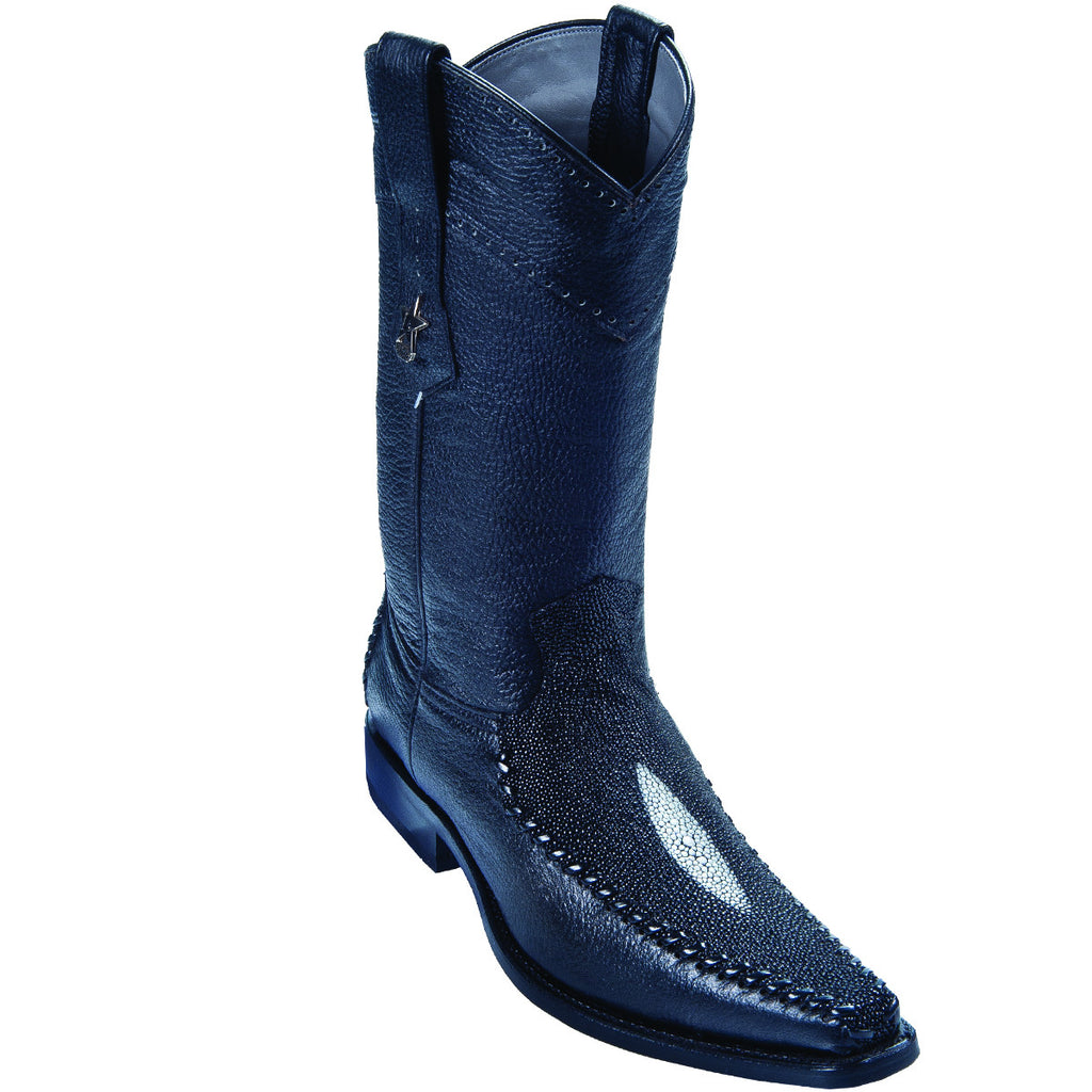 Single Pearl Stingray Square Toe Boot LAB-771205
