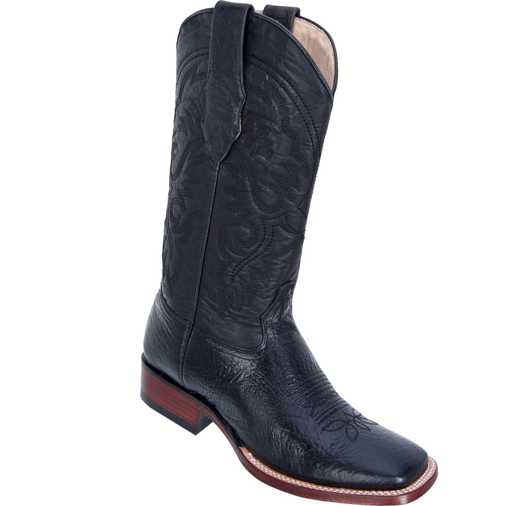 Bull Shoulder Skin Wide Square Toe Boot LAB-8223105