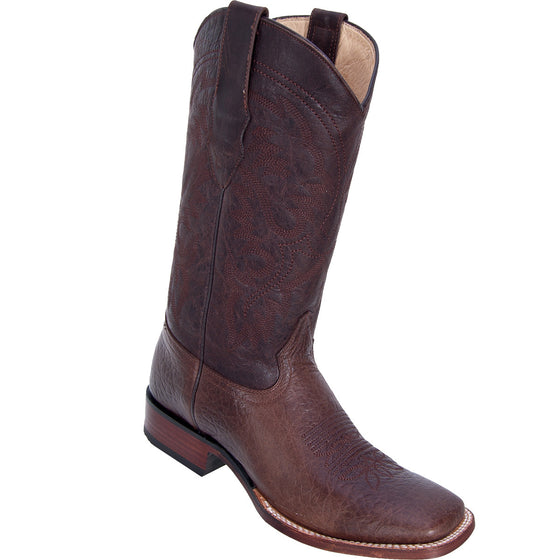 Bull Shoulder Skin Wide Square Toe Boot LAB-8223107