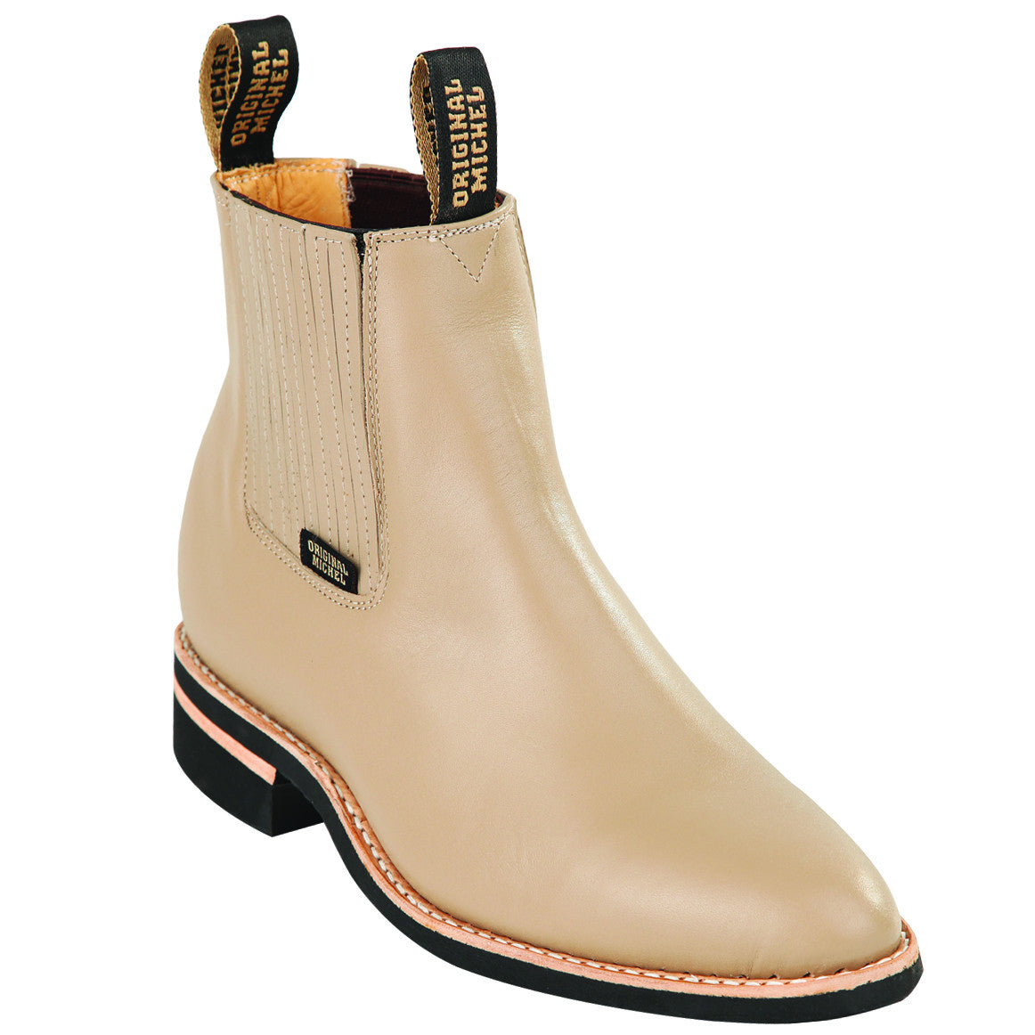Narrow Sole with Natural Edge Napa Short Boot KE-64C4611