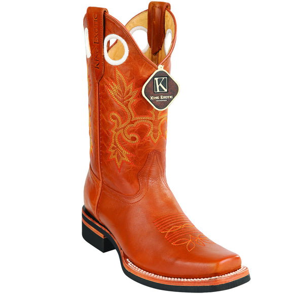 Cowhide Leather Rodeo Toe Boot KE-8154651