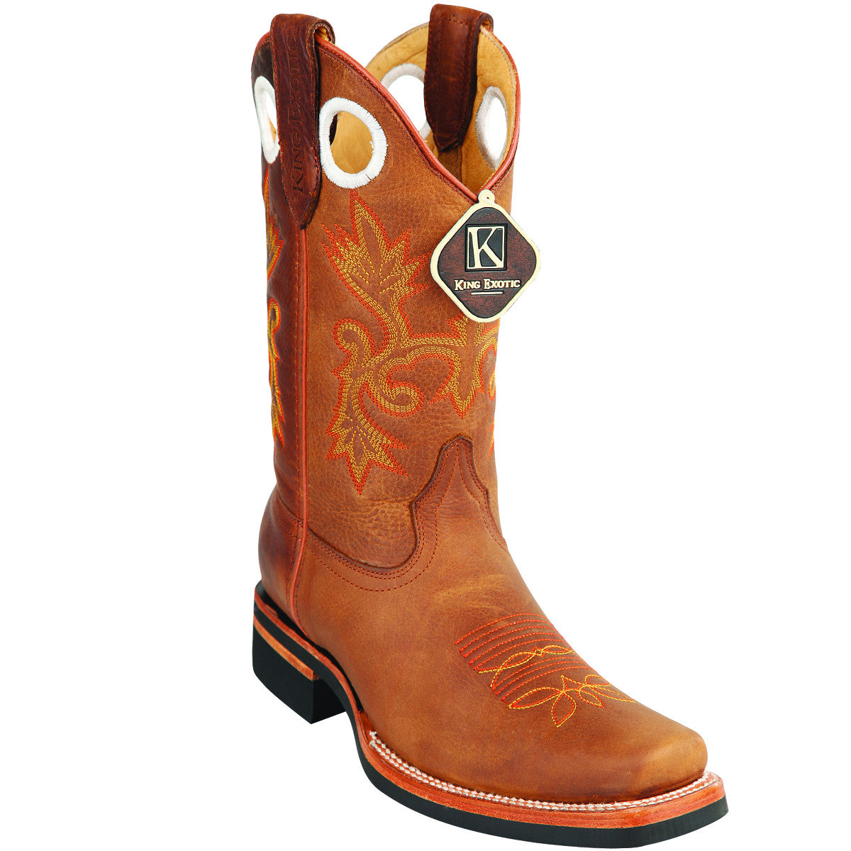 Cowhide Leather Rodeo Toe Boot KE-8159951