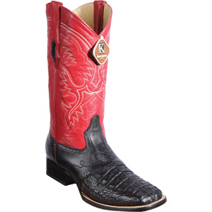 Original Brown Caiman Belly Skin Boot Wide Toe KE-82117