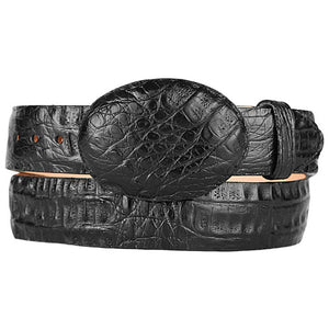 Original Black Gator Belly Western Style Belt