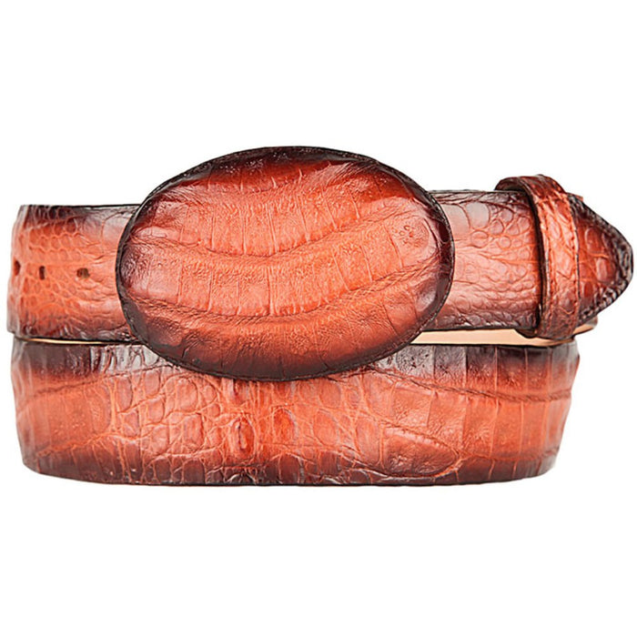 Original Cognac Gator Belly Western Style Belt
