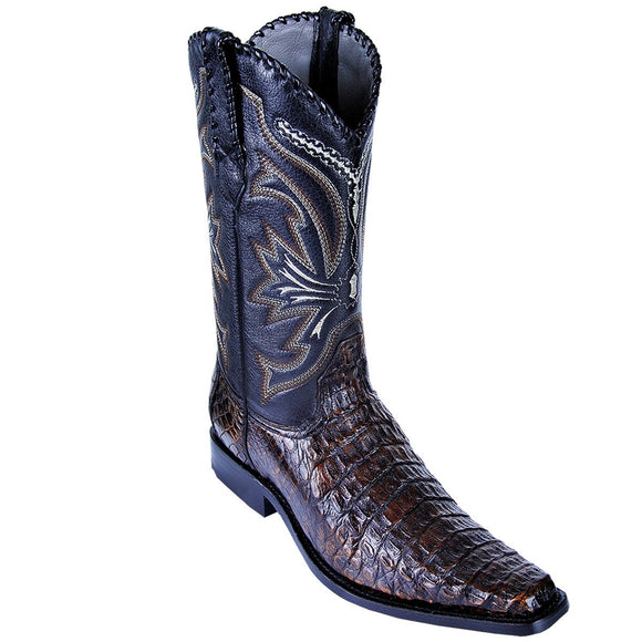 Caiman Belly Square Toe Boot LAB-7117