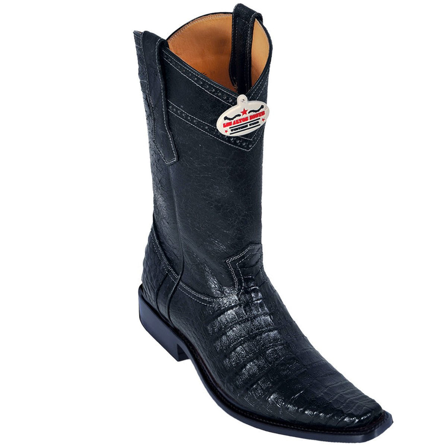 Caiman Belly Square Toe Boot LAB-7382