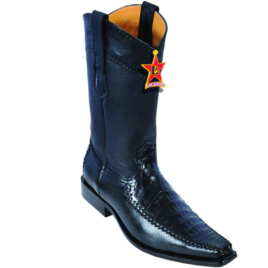 Caiman Belly Square Toe Boot LAB-7782