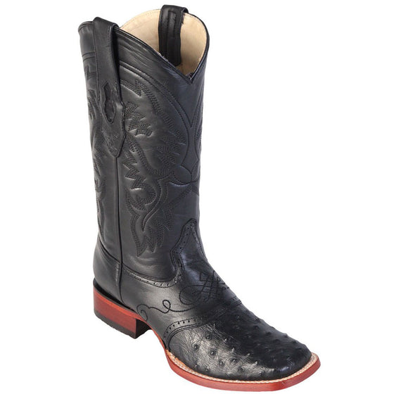 Original Ostrich Skin Wide Square Toe Boot LAB-82103