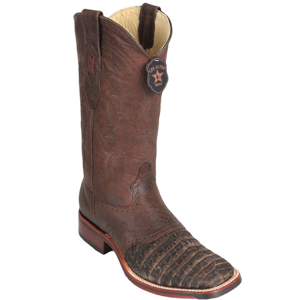 Caiman Belly Skin Wide Square Toe Boot LAB-82382