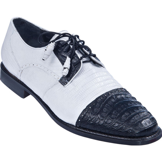 Caiman Belly with Lizard Dress Shoe LAB-ZV0937