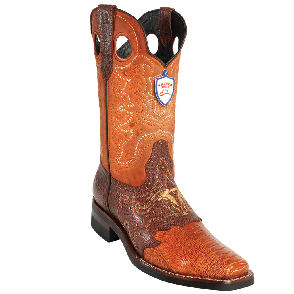 Ostrich Leg Rodeo Toe Boot WWB-281TH05