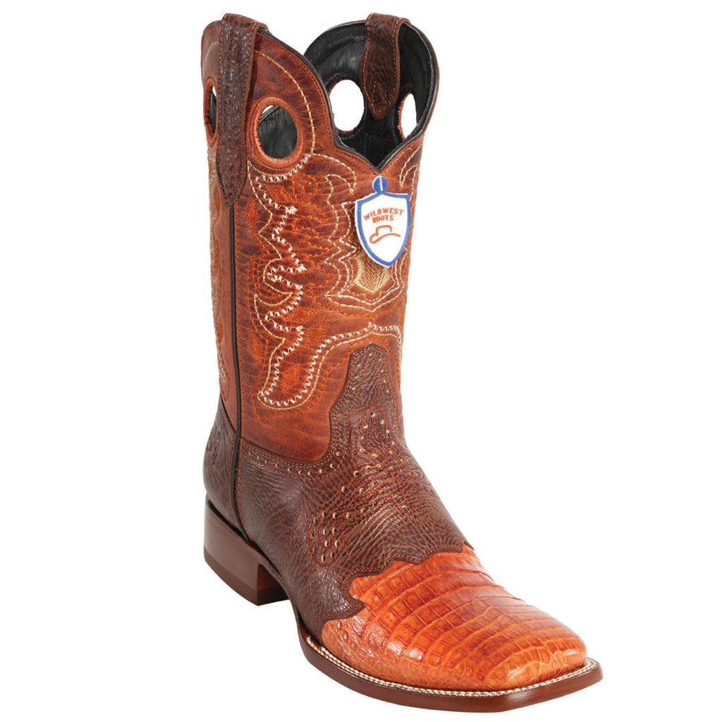 Caiman Belly Wild Ranch Toe Boot WW-282TC82