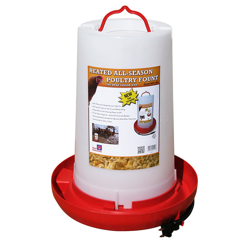 Heated All-Season Poultry Fount
