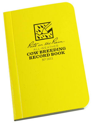 All-Weather Cow Breeding Record Book