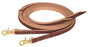 Leather Riding Reins w/Snap End