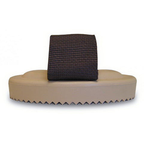 Curry Comb Rubber W/Nylon Strap